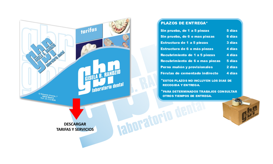 tarifas laboratorio dental